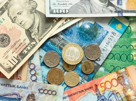 greenback: Money Kazakhstan tenge and US dollars