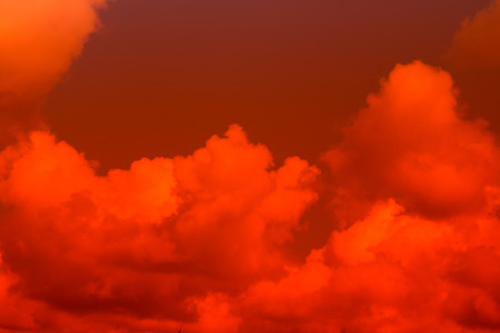 an outburst: Fiery  sky. Beautiful sky Stock Photo