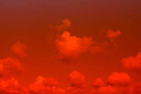 red sky: Fiery red sky Stock Photo