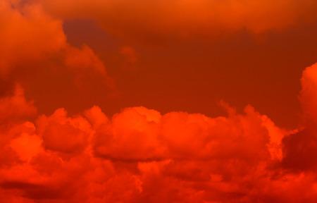 outburst: Fiery red sky Stock Photo
