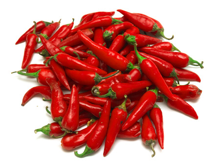 hot peppers: Red hot peppers big pile