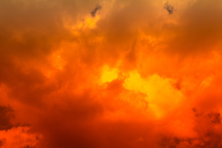 an outburst: Fiery red sky Stock Photo