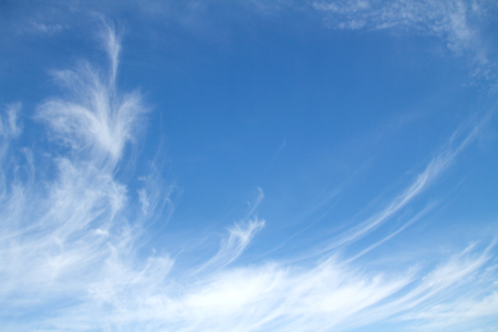 cirrus: cirrus clouds in the blue sky background