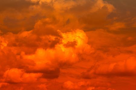 outburst: Fiery  sky. Beautiful sky Stock Photo