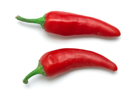 red pepper: Red hot pepper isolated on white background