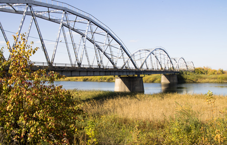 iron: iron bridge over the river