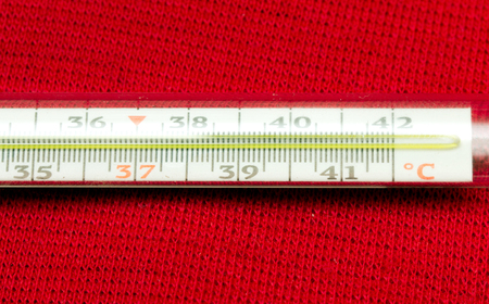 mercury: Medical glass mercury thermometer isolated