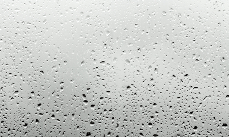 limpid: Water drops on glass in monochrome