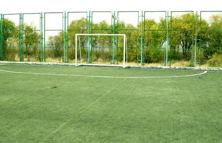 football pitch: football pitch, goal on artificial grass