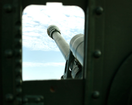 cannon gun: cannon gun from WWII against the sky