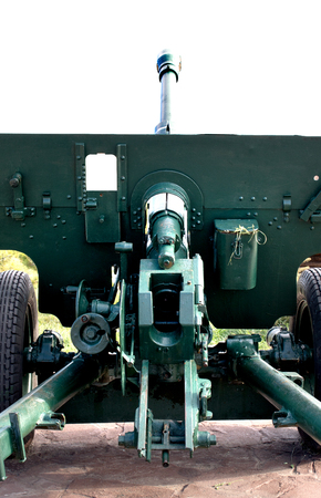 barrel bomb: cannon gun from WWII against the sky