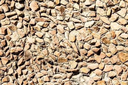 rubble: granite stone wall of rubble Stock Photo