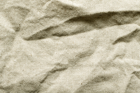 rumpled: rough linen fabric material rumpled Stock Photo
