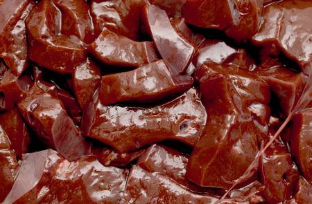 lean over: beef liver slices