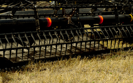 monoculture: combine harvester close up