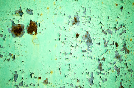rusty metal: old green rusty metal background Stock Photo