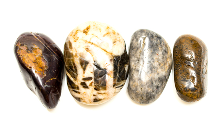 multiplicity: decorative stones on a white background Stock Photo