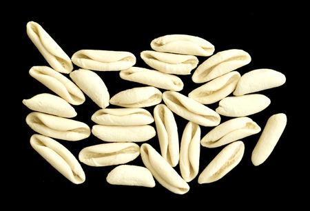 white flour: pasta made with white flour Stock Photo