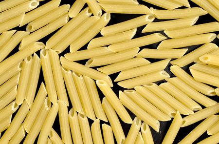 durum: pasta from durum wheat background Stock Photo