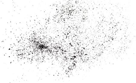 black powder: Black powder  isolated on white background Stock Photo