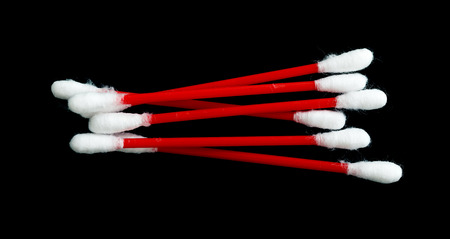 cotton wool: An image cotton wool buds on a dark background