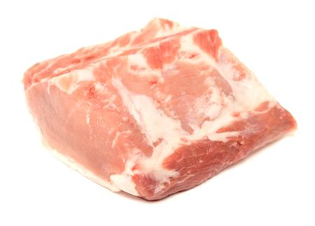 undercut: tenderloin piece of meat on a white background