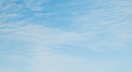 nebulosity: cirrus clouds in the blue sky Stock Photo
