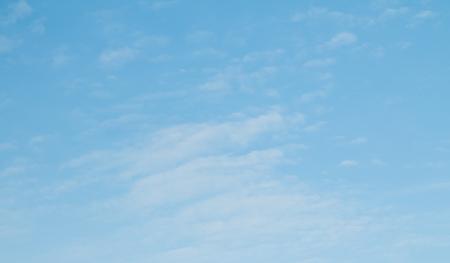 cumuli: cirrus clouds in the blue sky Stock Photo