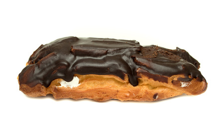 choux bun: choux pastry with cream in chocolate