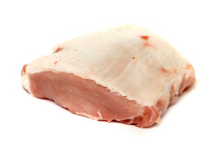 carne roja: pedazo del filete de carne en un fondo blanco Foto de archivo