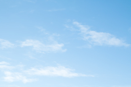 cirrus clouds on a blue cloud Stock Photo