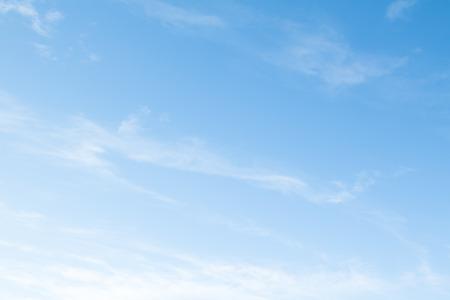 cumuli: cirrus clouds on a blue cloud Stock Photo