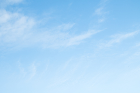 nebulosity: cirrus clouds on a blue cloud Stock Photo