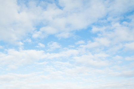 fluffy clouds: clouds in the blue sky, day Stock Photo