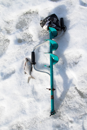 fish in ice: Winter fishing, fish on ice