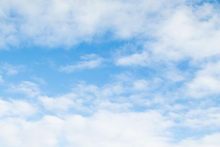 青い空には雲の日 写真素材