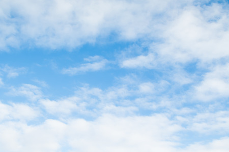 autumn sky: clouds in the blue sky, day Stock Photo