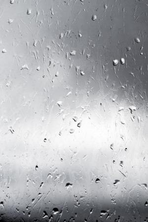 unfocused: raindrops on glass unfocused