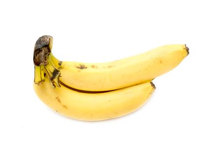Banana white background Stock Photo