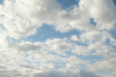 cumulus: Cloudy cumulus, medium, high in the blue sky background