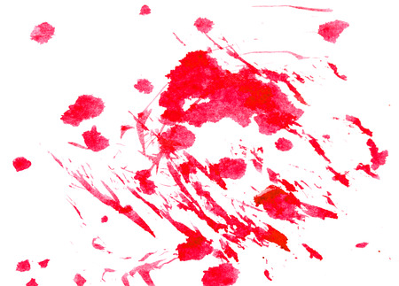 ranging: red drops of blood on a white background