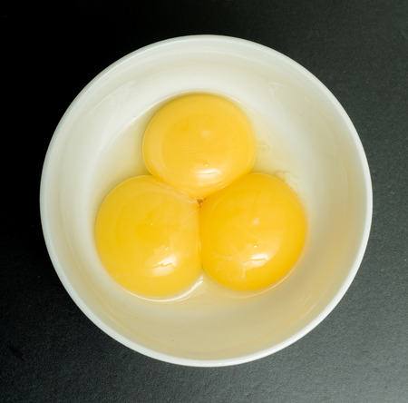 yolks: eggs without shell, egg yolks