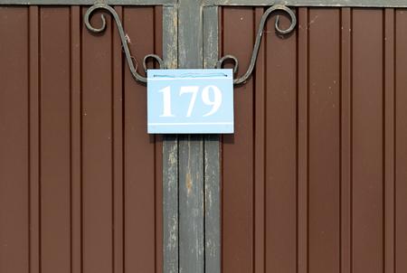 placa bacteriana: número de casa placa con los números