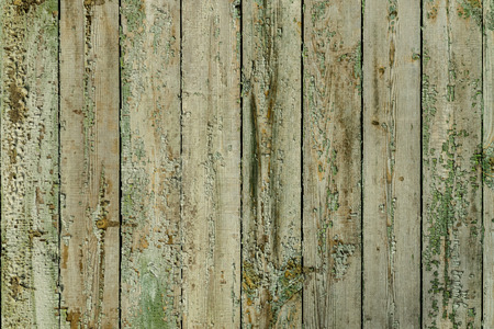 lumber room: old painted wooden fence, background Stock Photo