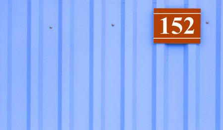 placa bacteriana: n�mero de casa placa con los n�meros