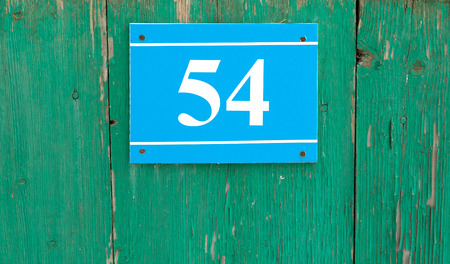 plaque: house number plaque with numbers