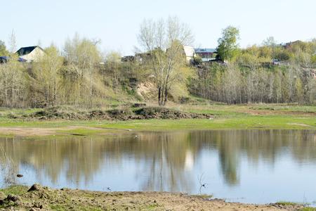 flooded: spring flood, flooded meadows trees