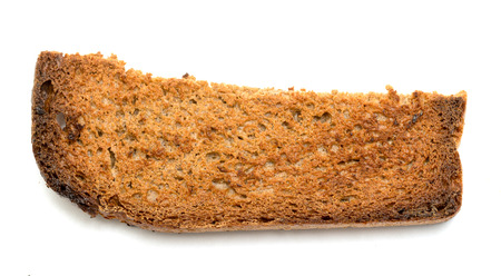 crumbs: bread crumbs fried croutons isolated on white