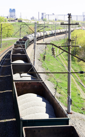 freight train: Train freight top view
