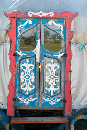 old wooden door: old wooden door painted patterns